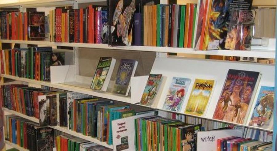 Reol med bøger
